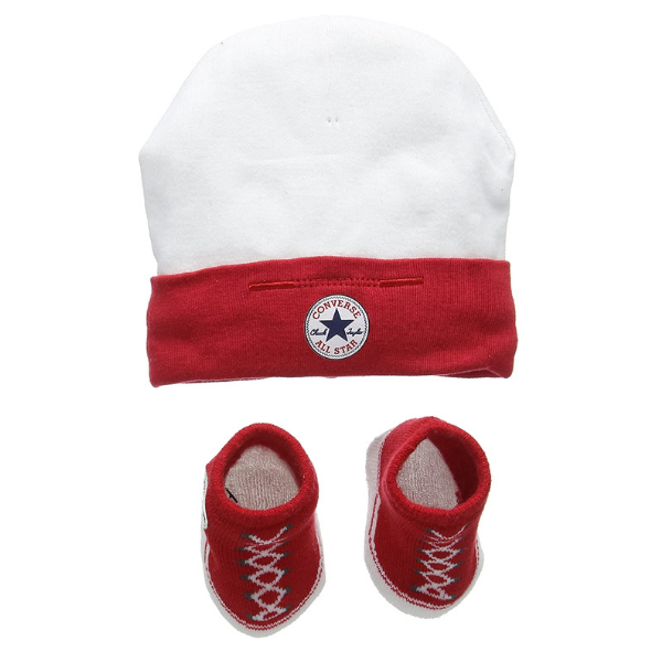 Converse Unisex Baby Hat and Bootie Plain Clothing Set