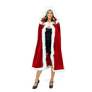 Kid Adult Christmas Hooded Cape Women Children Santa Claus Cloak Girl Boy Fancy Dress