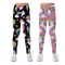Coralup Little Girls Colorful Stretch Leggings Tights 3D Printing Casual Pants