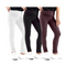 Girls 3 Pack Full length 45% cotton girls leggings plain pants for kids trouser