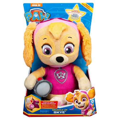 Paw Patrol 6054736 Snuggle Up Skye Plush with Torch and Sounds, for Kids Aged 3 Years and Over