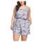 FeelinGirl Women's Floral Jumpsuits Sleeveless Short Beach Romper Play suit
