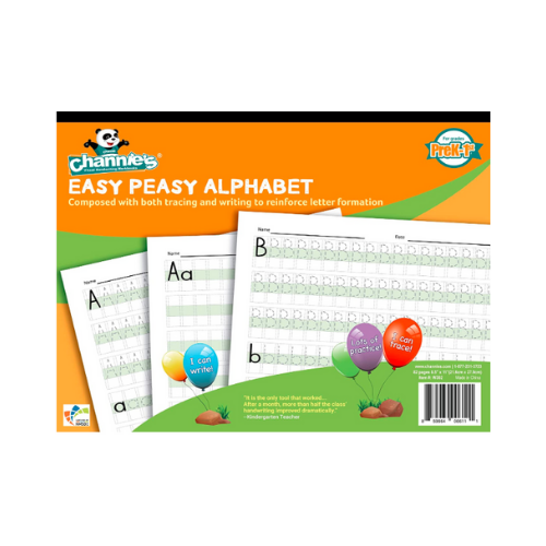 Channie's W302 EASY PEASY ALPHABET HANDWRITING WORKBOOK COMBINE BOTH TRACING & WRITING. LOTS PRACTICES!