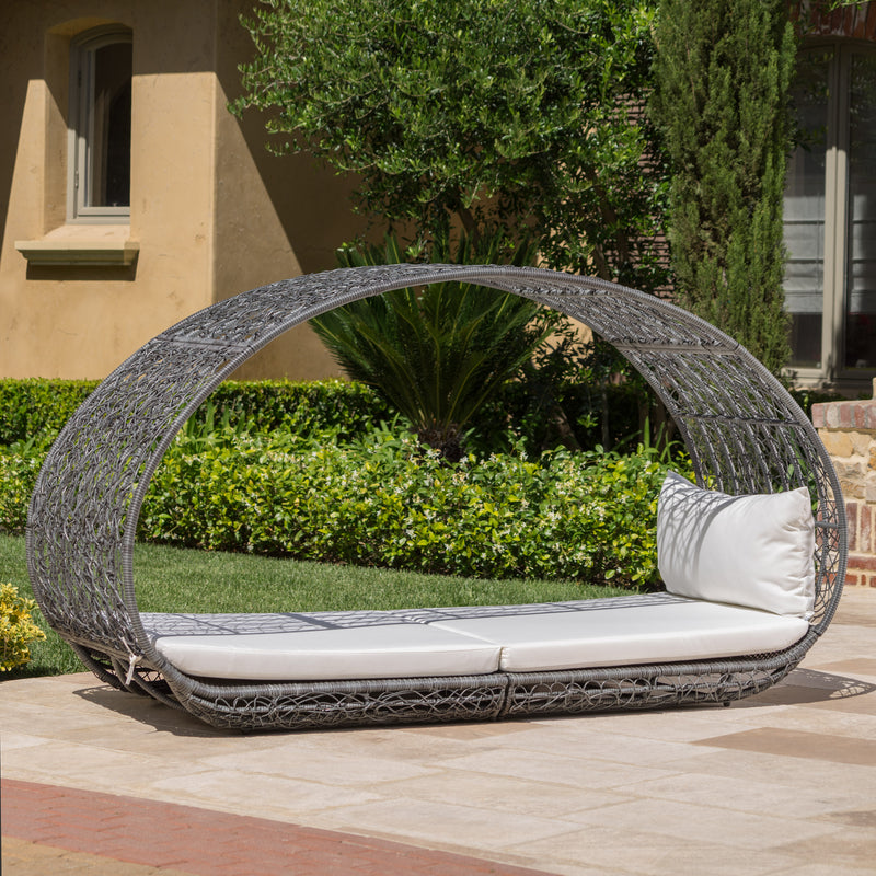 Kinston Outdoor Wicker Daybed with Cushion