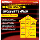 Universal® Security Instruments, Inc. Smoke & Fire Alarm Value Pack 3 pc Pack