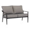 Better Homes & Gardens Acadia 2-Piece Patio Love seat Set with Gray Cushions