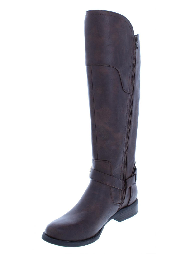 G by Guess Womens Harson Faux Leather Riding Over-The-Knee Boots