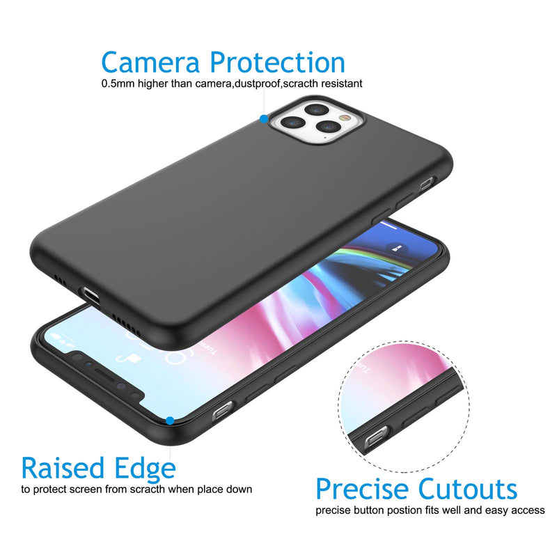 "Cases For 5.8"" iPhone 11 Pro, Njjex Liquid Silicone Gel Rubber Shockproof Case Ultra Thin Fit Case"