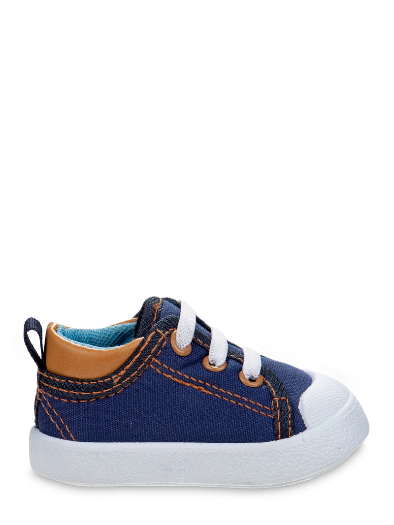Beverly Hills Polo Clun Canvas Lace Up No Tie Bump Toe Sneakers (Infant Boys)