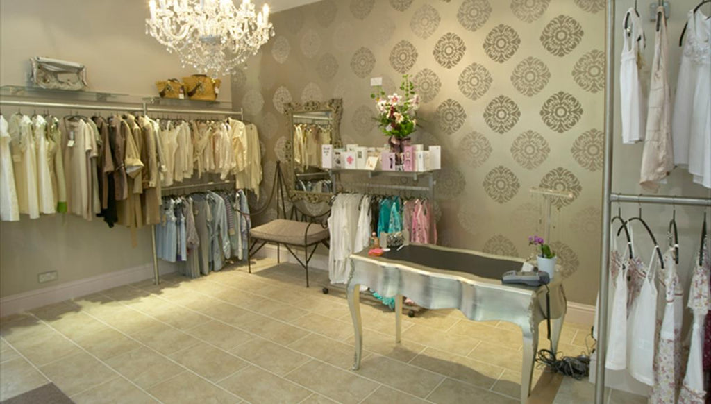 Gold and glam interiors at Coco Boutique UK
