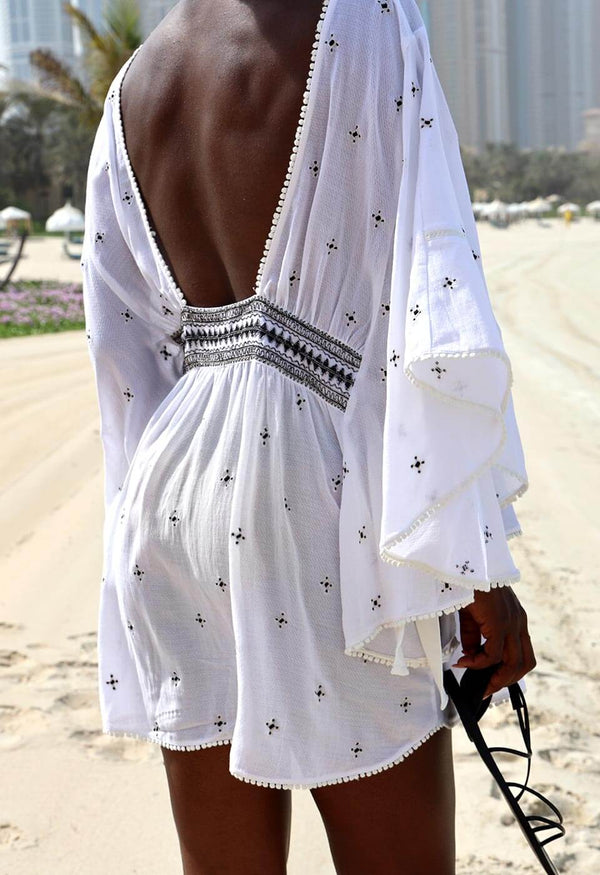 EASY BREEZY - SHORT Kimonos & Cover-ups 105 S/M Simply White Solid Color