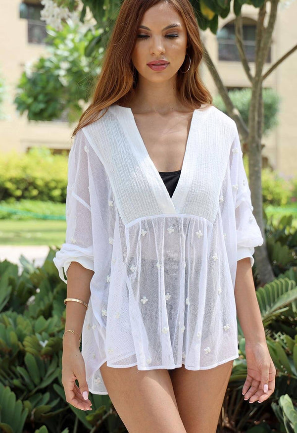JARAZA - MAXI-STRAP DRESS Tops & Blouses 106 S/M Simply White Solid Color