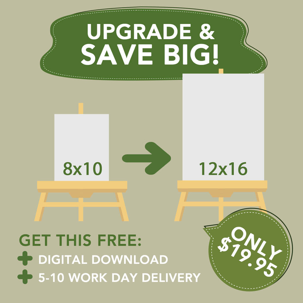 Upgrade 8x10 portrait to 12x16 + free digital download + free shipping upgrade