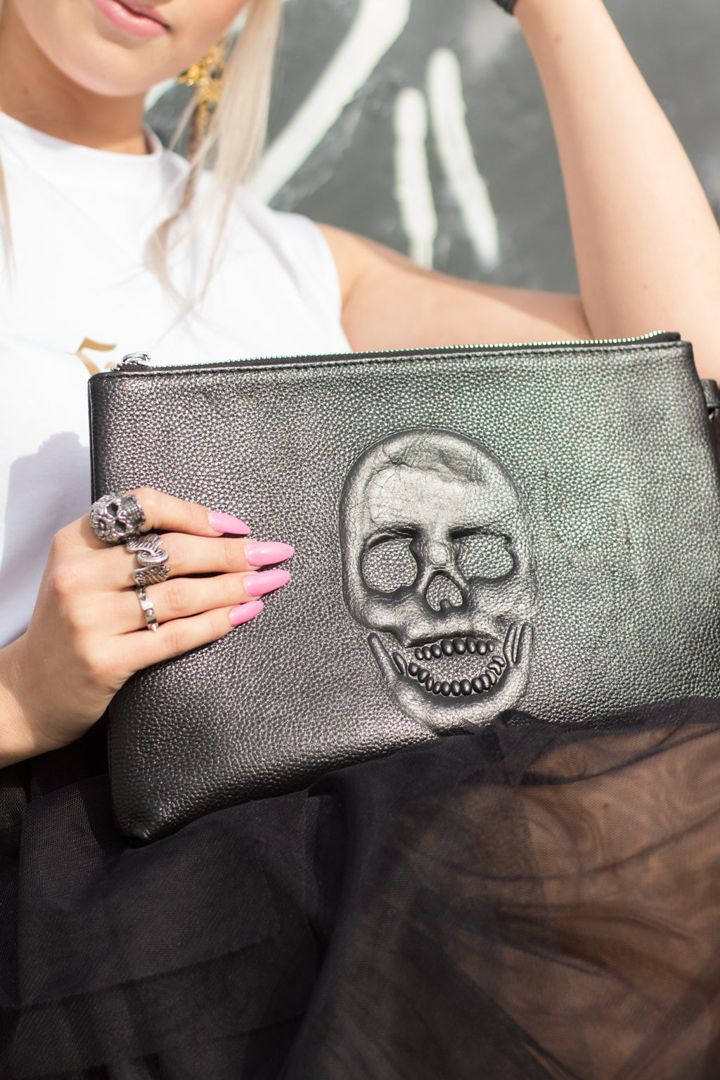 Anarchy Clutch purse/ iPad case