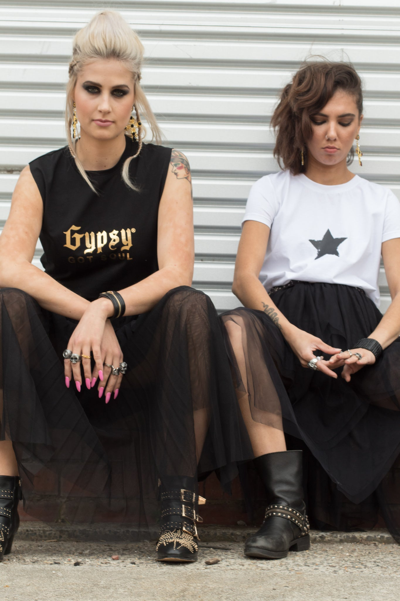 Gypsy Got Soul Black Sleeveless Tee