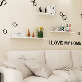 4PCS Wall Floating Shelf Set DIY Mount Storage Book MDF Display Rack Wooden