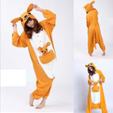 Unisex Birthday onesie Custume Cosplay Adult Kigurumi Pajamas Sleepwear(kangaroo)