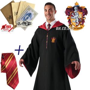 Harry Potter Gryffindor Robe Cape Cosplay School Party Costume(Adult)