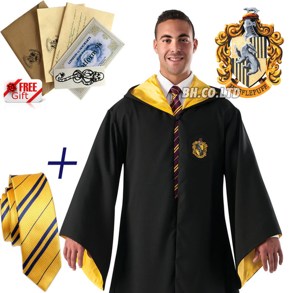 Harry Potter Hufflepuff Robe+TIE(Adult)
