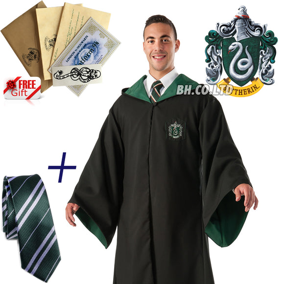 Harry Potter Slytherin Robe+TIE (Adult)