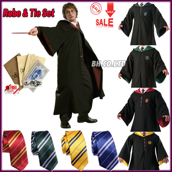 Harry Potter Robe Cape Cosplay School Party Costume