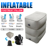 Inflatable Foot Rest Pillow Adjustable Height