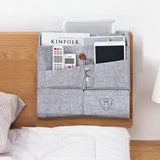 Pop Felt Bedside Caddy Pocket Bed Organizer Storage Phone Remote Holder Bag Case