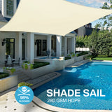 Sun Shade Sail Water Resistant Outdoor Garden Patio Yard Party Sunscreen Awning Canopy Rectangle(4x3m)