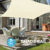 Sun Shade Sail Water Resistant Outdoor Garden Patio Yard Party Sunscreen Awning Canopy Rectangle(3x2m))