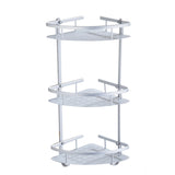 3 TIER WALL BATH ORGANISER CORNER SHOWER SHELF UNIT SHOWER CADDY STORAGE RACK