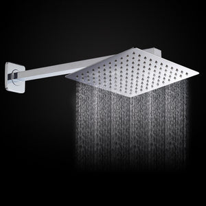 16inch Wall Mounted Square Stainless Steel Rain Shower Head Extension Arm