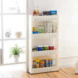 Pantry Storage Rack Multi-Purpose 4 Tier Slide Out Storage Tower