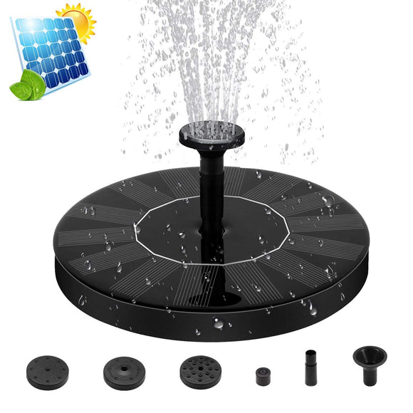 Solar Fountain Pump Free Standing 1.5W Bird Bath Water Fountain Pump