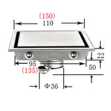 304 Stainless Steel Invisible Waste Strainer Bathroom Shower Square / Triangle  Floor Drain