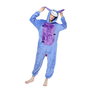 Unisex Birthday onesie Custume Cosplay Adult Kigurumi Pajamas Sleepwear(Donkey)