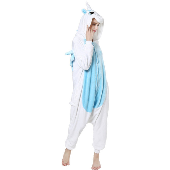 Unisex Birthday onesie Custume Cosplay Adult Kigurumi Pajamas Sleepwear(Unicorn)