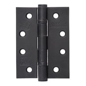 "Atlantic Ball Bearing Hinges Grade 13 Fire Rated 4"" x 3"" x 3mm - Matt Black - AH1433MB - Pair - Choice Handles"