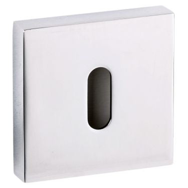 Atlantic Senza Pari Key Escutcheon on Flush Square Rose - Polished Chrome - SPESCKCP