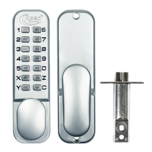 ASEC AS2300 Series Digital Lock With Optional Holdback - Satin Chrome - Choice Handles