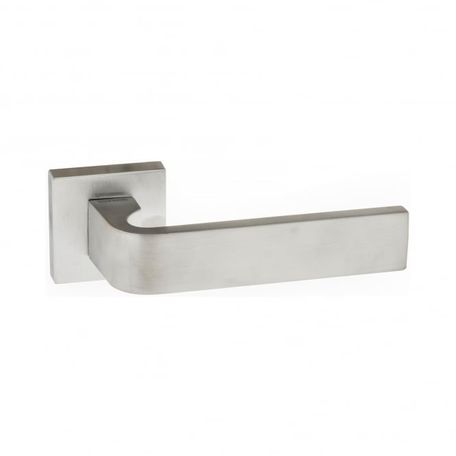 Atlantic - Forme Monza Designer Lever on Minimal Square Rose - Satin Chrome - FMS413SC