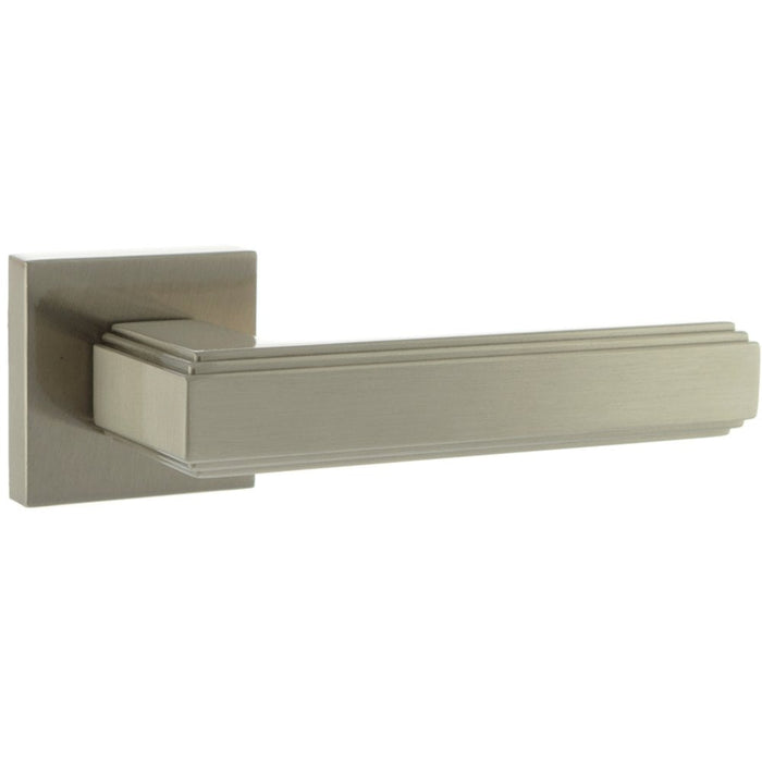 Atlantic - Forme Alila Designer Lever on Minimal Square Rose - Satin Nickel - FMS293SN