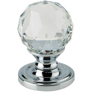 Swarovski Crystal Mortice Furniture - Polished Chrome - 2000-60PC - Choice Handles
