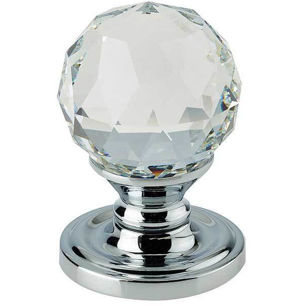 Swarovski Crystal Mortice Furniture - Polished Chrome - 2000-60PC