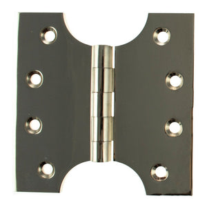 "Atlantic (Solid Brass) Parliament Hinges 4"" x 2"" x 4"" - Polished Nickel - APH424PN - Pair - Choice Handles"