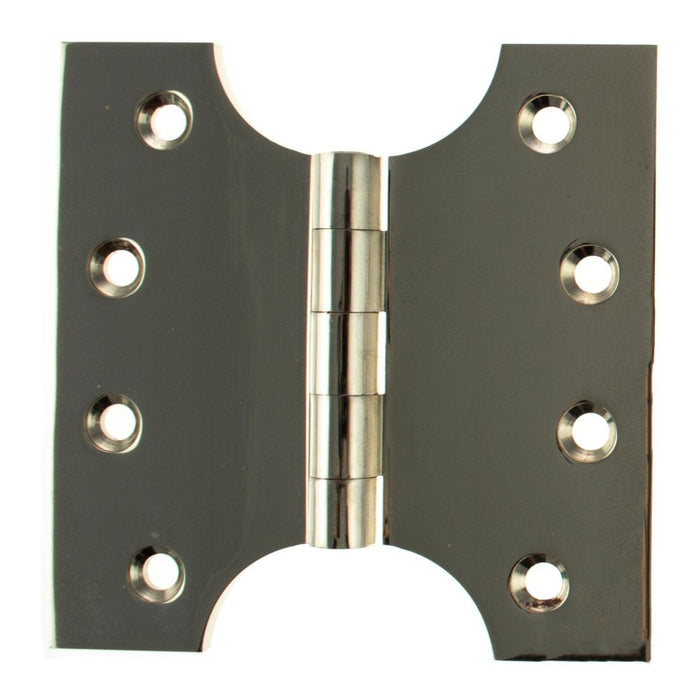 "Atlantic (Solid Brass) Parliament Hinges 4"" x 2"" x 4"" - Polished Nickel - APH424PN - Pair"