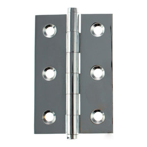 "Atlantic Washered Butt Hinges 3"" x 2"" x 2.2mm inc Screws - Polished Chrome - AWH3222PC - Pair - Choice Handles"