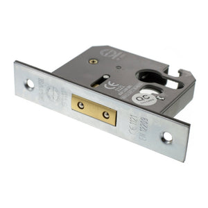 "Atlantic Euro Deadlock [CE] 2.5"" 63mm - Satin Chrome - ALKDEADE25SC - Choice Handles"