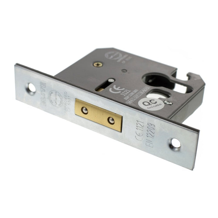 "Atlantic Euro Deadlock [CE] 2.5"" 63mm - Satin Chrome - ALKDEADE25SC"