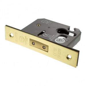"Atlantic Euro Deadlock [CE] 2.5"" 63mm - Satin Brass - ALKDEADE25SB - Choice Handles"