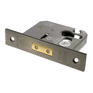 "Atlantic Euro Deadlock [CE] 3"" 76mm - Matt Antique Brass - ALKDEADE3MAB - Choice Handles"
